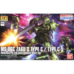 HG Gundam The Origin - No. 016 - 1/144 - MS-06 Zaku II Type C / C-5