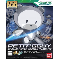 HGPG 1/144 Puchigguy Graham Aker White & Placard