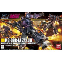 HGUC - No. 151 - 1/144 - MS-06R-1A Zaku II Black Tri-Stars Custom