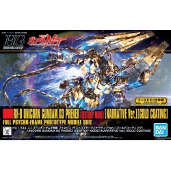 HGUC HIGH GRADE UNIVERSAL CENTURY - No. 216 - 1/144 - Unicorn Gundam 03 Phenex [Destroy Mode] Narrative Ver. Gold Coating