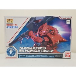 THE GUNDAM BASE LIMITED - HG HIGH GRADE GUNDAM THE ORIGIN - 1/144 - CHAR AZNABLE'S ZAKU II [METALLIC]