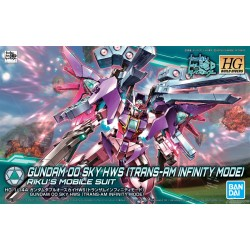 HGBD High Grade Build Divers - No. 021 - 1/144 - Gundam 00 Sky HWS (Trans-Am Infinite Mode)