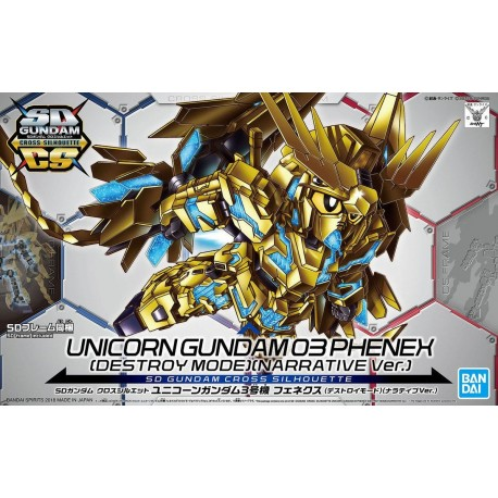 PRE-ORDER SDCS - SD Gundam Cross Silhouette - No. 007 - Unicorn Gundam 03 Phenex [Destroy Mode] (Narrative Ver.)