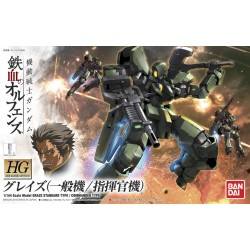 HG Iron-Blooded Orphans - 002 - 1/144 - EB-06 Graze Standard Type / Commander Type