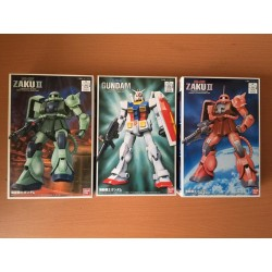 FG - 1/144 - MS-06F Zaku II, RX-78-2 Gundam and MS-06S Char's Zaku II SET