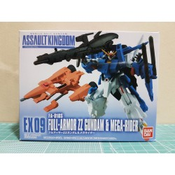 ASSAULT KINGDOM EX09 FA-010S FULL ARMOR ZZ GUNDAM & MEGA RIDER