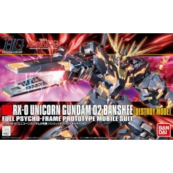 HGUC No. 134 1/144 RX-0 Unicorn Gundam 02 Banshee [Destroy Mode]