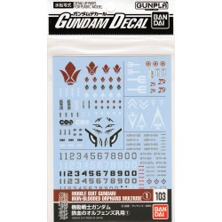 GD-103 - Gundam Decal for Mobile Suit Gundam Iron-Blooded Orphans No. 1
