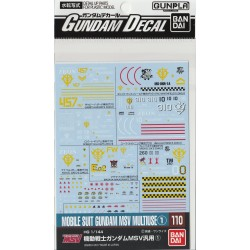 GD-110 for Mobile Suit Gundam MSV Series 1 Waterslide Decals
