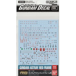 GD-111 for RG 1/144 Gundam Astray Red Frame Waterslide Decals