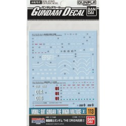 GD-113 for Gundam The Origin Series 2 Waterslide Decals